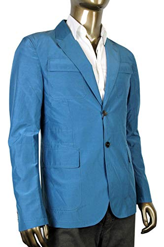 Gucci Light Blazer Teal Cotton Silk Two Button Jacket