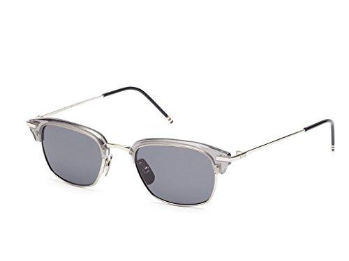 THOM BROWNE Satin Crystal GreyShiny Silver w/ Dark Sunglasses