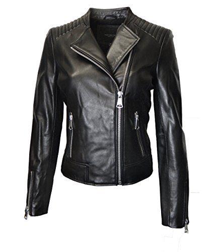 Marc New York Women's Moto Leather Jacket-Black-XL