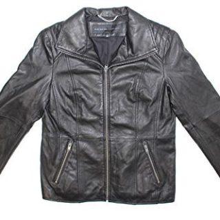 Andrew Marc Fabian Leather Jacket (Black, X-Small)