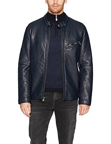 Marc New York by Andrew Marc Men's Dinsmore Faux Leather Moto Jacket