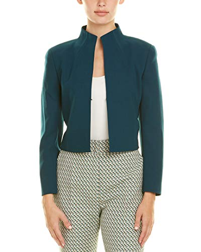 Akris Womens Wool-Blend Jacket, 6, Blue