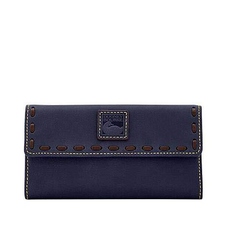 Dooney & Bourke Florentine Continental Clutch Navy Leather Wallet