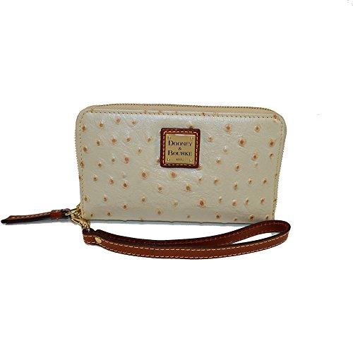 Dooney & Bourke Ostrich Wristlet clutch wallet Pearl