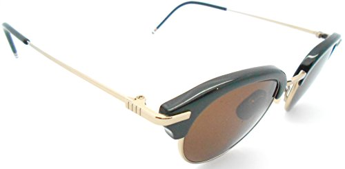 Thom Browne A Black 18k gold Half-rim Sunglasses