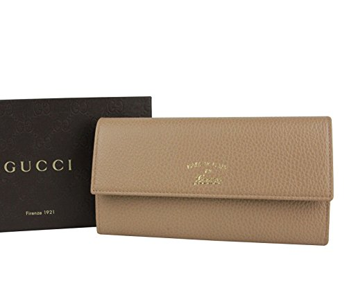 Gucci Light Brown Leather Wallet With Coin Pocket