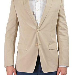 Versace Collection Men's Beige Two Button Sport Coat Blazer