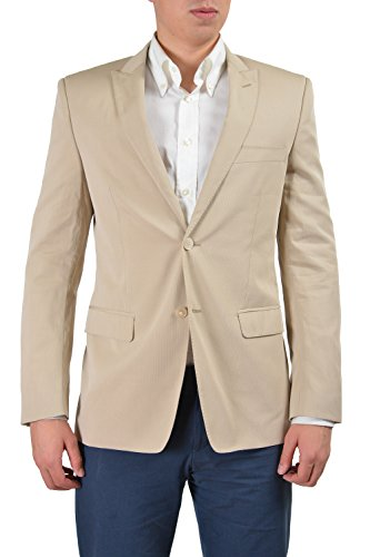 Versace Collection Men's Beige Two Button Sport Coat Blazer