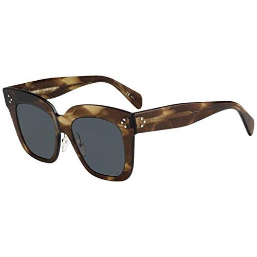 Celine Havana Brown Kim Square Sunglasses Lens Category 3 Size 51