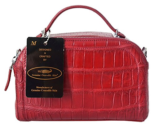 Authentic M Crocodile Skin Womens Belly W/Strap Clutch Bag