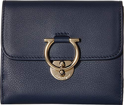 Salvatore Ferragamo Women's Navy/Pale Grey One Size