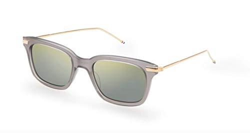 THOM BROWNE Sunglasses Satin Crystal Grey - 18K Gold 49mm