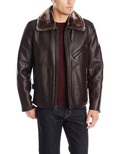 Marc New York by Andrew Marc Men's Lenox Faux Shearling Pilot Jacket