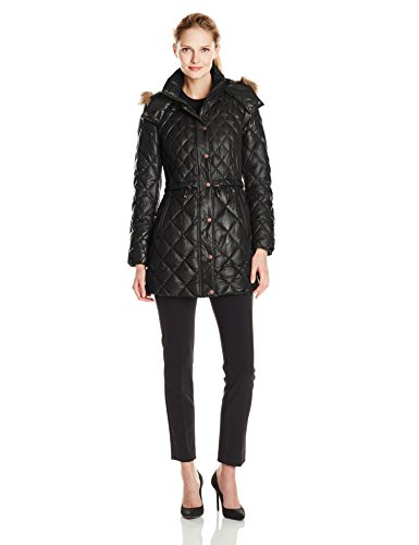 Marc New York by Andrew Marc Women's Kava Quilted Down Coat, Black, Medium