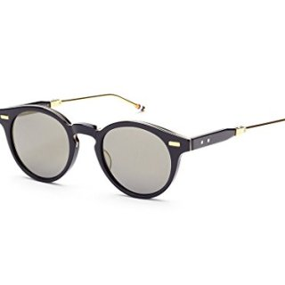 THOM BROWNE Navy18K Gold w/ Dark Grey Flash-AR Sunglasses
