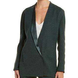 Akris Womens Linen-Blend & Silk-Lined Jacket, 8, Green