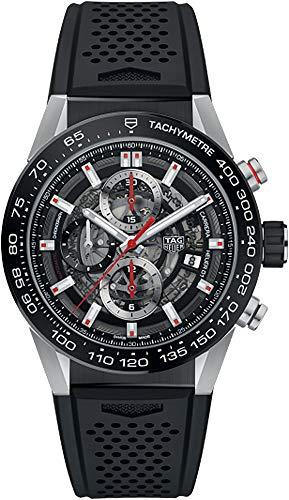 TAG Heuer Carrera Men's Watch Skeleton Dial w/ Black Rubber Strap