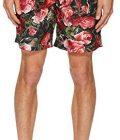 Dolce & Gabbana Men's Mid Length Roseto Boxer w/Bag Green Roseto Print 5