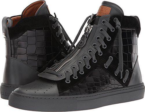 BALLY Men's Hekem High Top Sneakers, Black, 12 M US