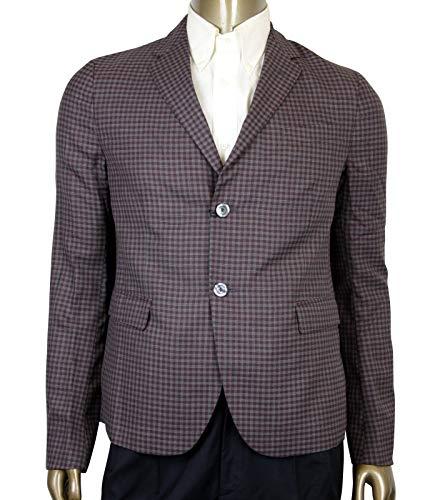 Gucci 2 Buttons Grey/Burgundy Vichy Wool Gauze Jacket
