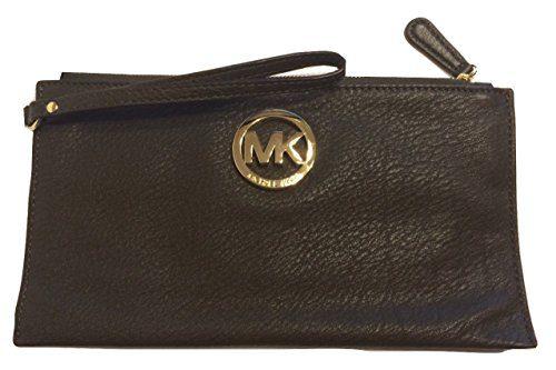 Michael Kors Fulton LG Zip Clutch DK Olive Leather