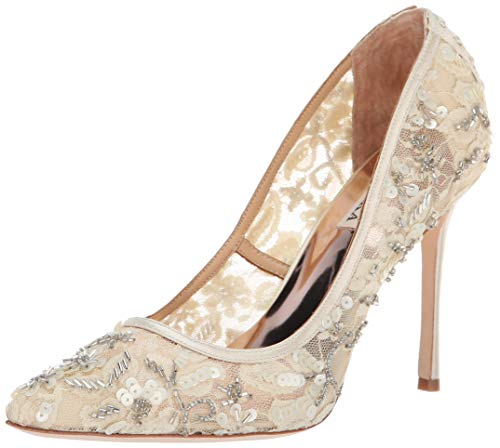 Badgley Mischka Women's Veronica Pump, Ivory Lace, 7 M US