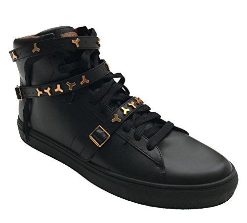 BALLY Heilmar Perforated Leather High-Top Sneaker, Black (10)