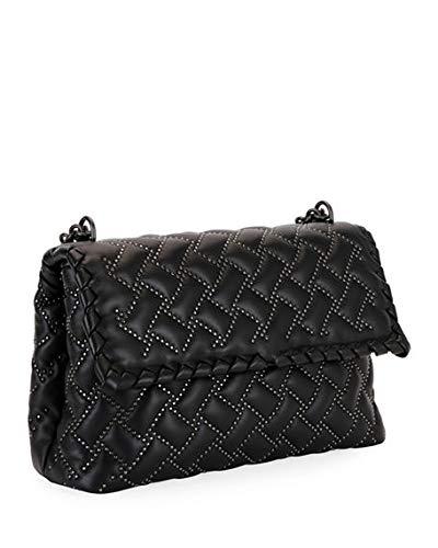 Bottega Veneta Olimpia Small Microstud Shoulder Bag Made in Italy (Black)