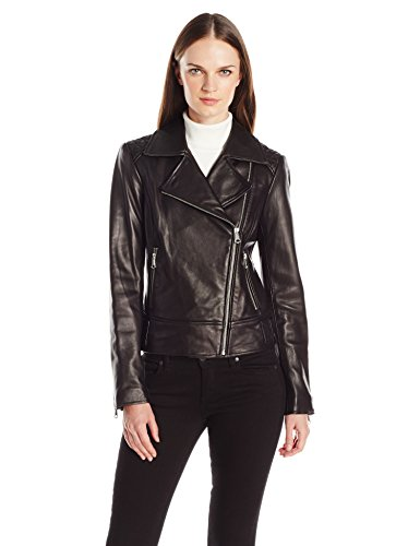 Marc New York by Andrew Marc Women's Leah Asymmetric Leather Jacket