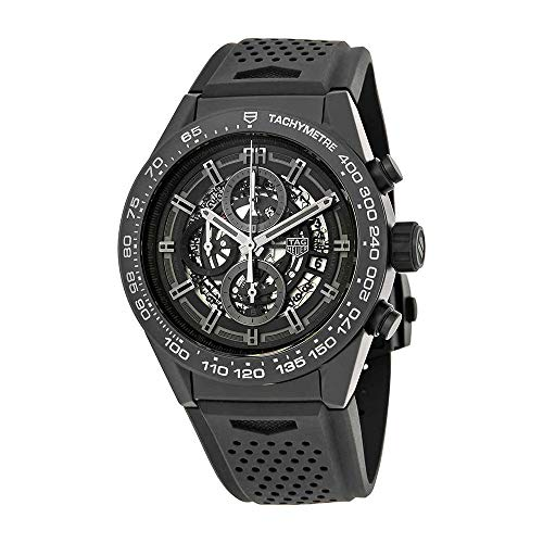 TAG Heuer Carrera Matte Black Ceramic on Rubber Strap Men's Watch