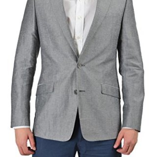 Versace Collection Men's Multi-Color Linen Sport Coat Blazer