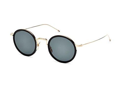 Sunglasses THOM BROWNE Black-White Gold w/ Dark Grey-AR