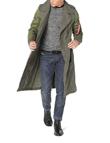 Alpha Industries Men's Mackinaw Long Length Trench Coat