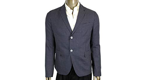 Gucci Men's Formal Midnight Blue/Grey Wool 2 Button Jacket