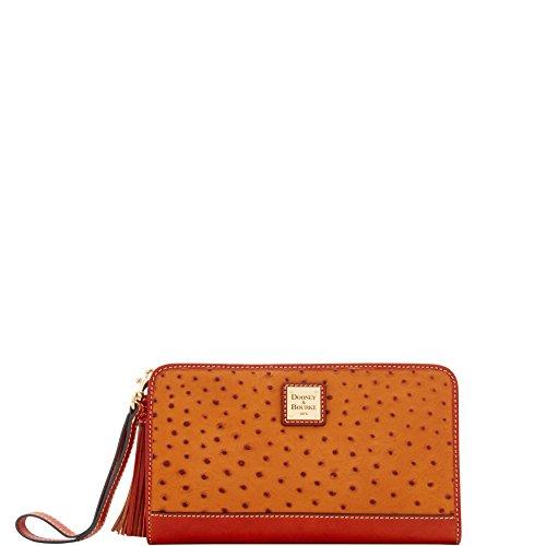 Dooney & Bourke Ostrich Alice Wristlet Clutch Wallet