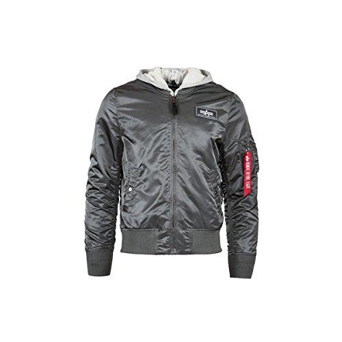 Alpha Industries Hooded Flight Jacket, White
