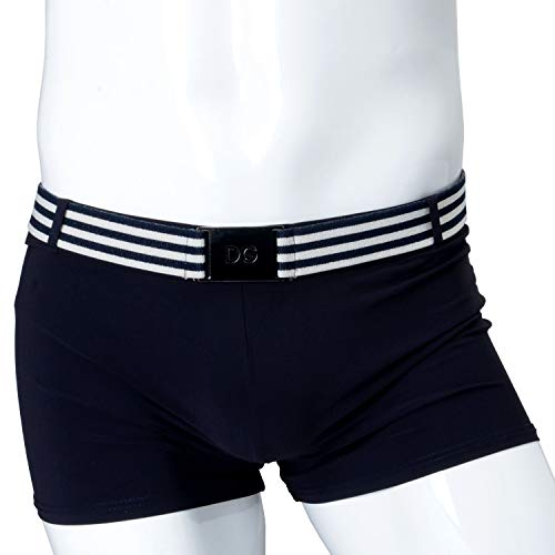 "Dolce & Gabbana ""Beachwear Men's Blue Belted Stretch Swim Trunks"