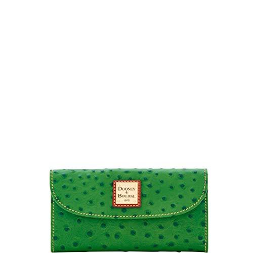 Dooney & Bourke Ostrich Continental Clutch Wallet Green