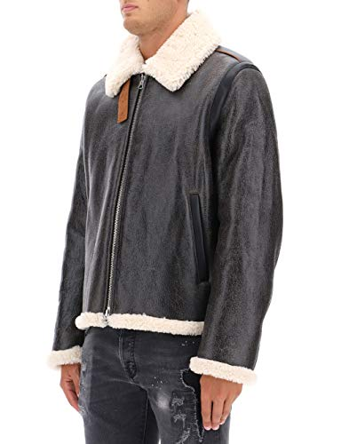 Acne Studios Men's Grey Leather Outerwear Jacket