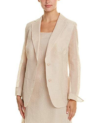Akris Womens Silk-Lined Jacket, 16, Beige