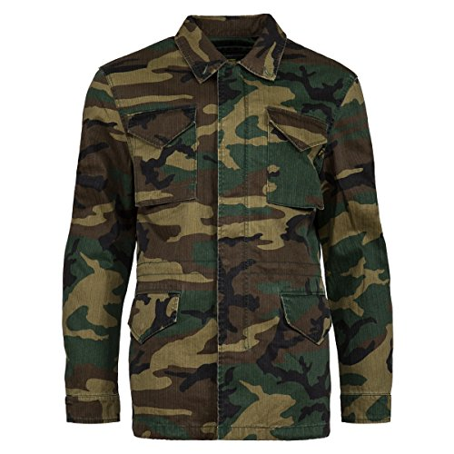 Alpha Industries Unisex Dragon Tour Field Coat Woodland Camo Outerwear