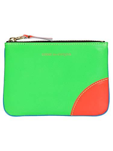 Comme Des Garçons Women's Green Leather Wallet