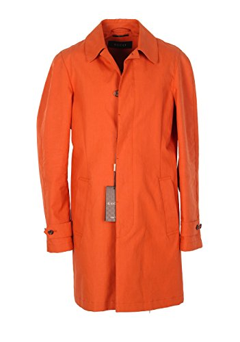 Gucci CL Orange Rain Coat Size 48/38R U.S. in Cotton
