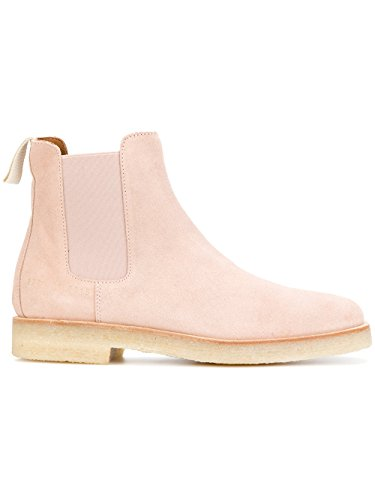 COMMON PROJECTS Women's Pink Suede Ankle Boots