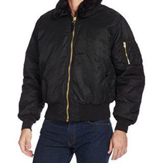 Alpha Industries Men's Nylon Flight Jacket, Black, Medium