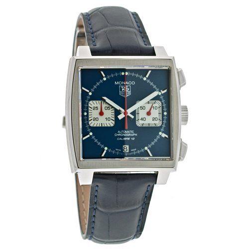 TAG Heuer Men's Monaco Calibre 12 Automatic Chronograph Blue