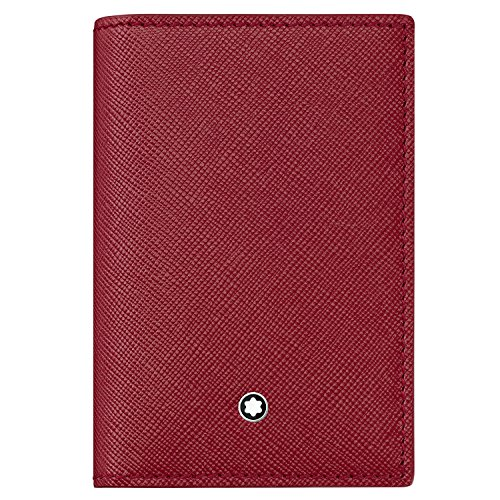 Montblanc Sartorial Business Card Holder with Gusset Red