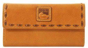 Dooney & Bourke Florentine Leather Continental Clutch Natural