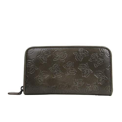 Bottega Veneta Women's Butterfly Imprint Brown Leather Wallet