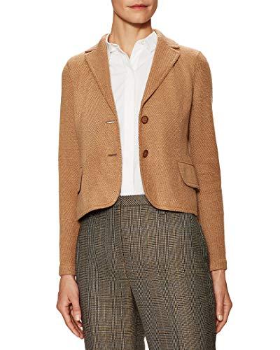 Akris Womens Beatle Split Cuff Jacket, 6 Tan